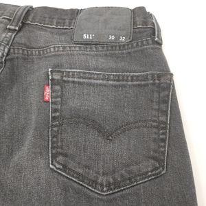 Levi's 511 Black Gray Fade Slim Fit Men's Jeans